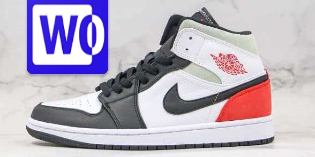 852542-100 Air Jordan 1 Mid SE Black White Red is Available Now