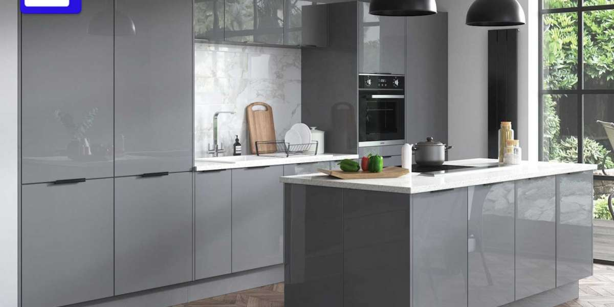 The great place for the grey kitchen cabinets