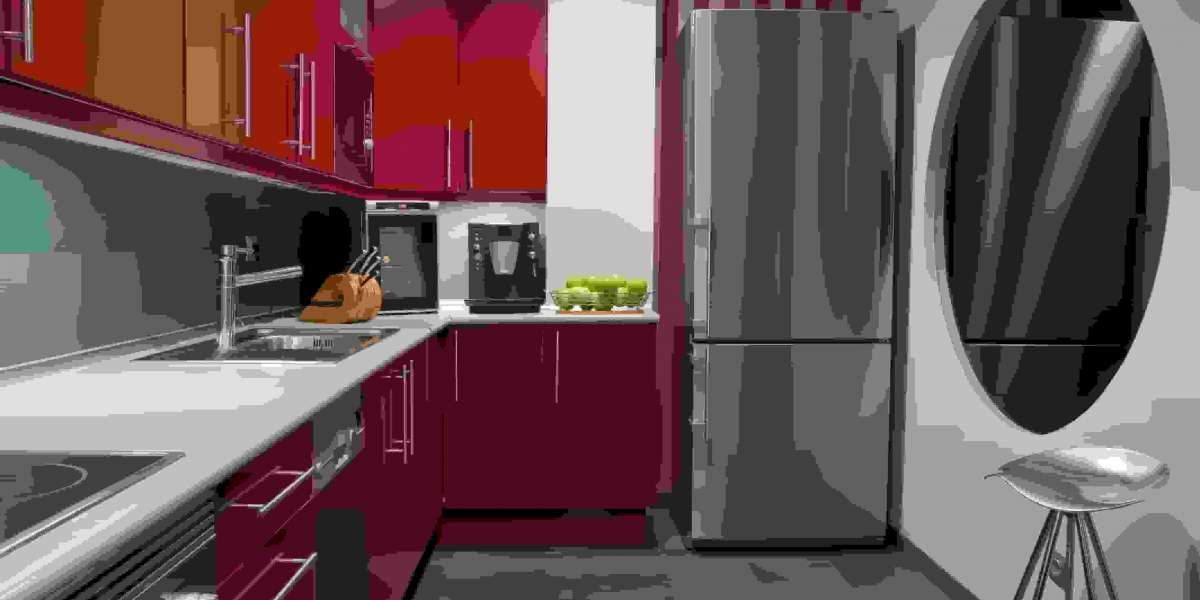 Importance of the red kitchen cabinets